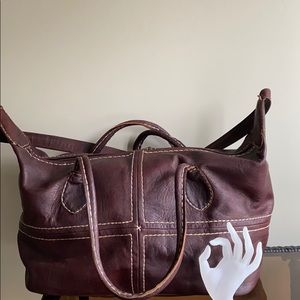 Moroccan Handmade Leather Travel Bag